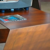mesas acero corten