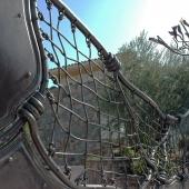 puerta y valla acero corten